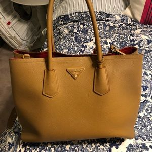 Prada Saffiano Double Tote Bag